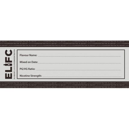 Blank DIY E Liquid Label
