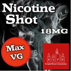 WHOLESALE Nicotine Shots 18mg Max VG