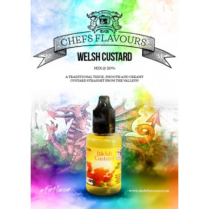 Welsh Custard Flavour Concentrate by Chefs Flavours