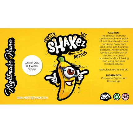 Nightmare Nana Flavour Shot by Monster Shakez - 250ml