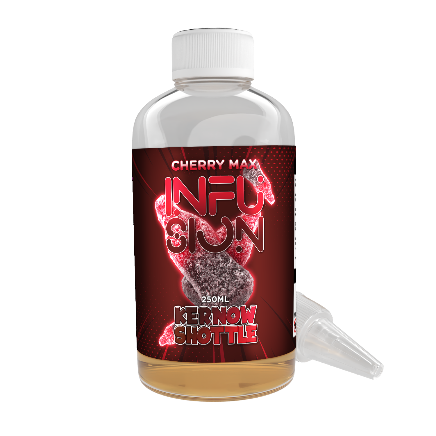 Cherry-Max Infusion Shottle Flavour Shot by Kernow - 250ml