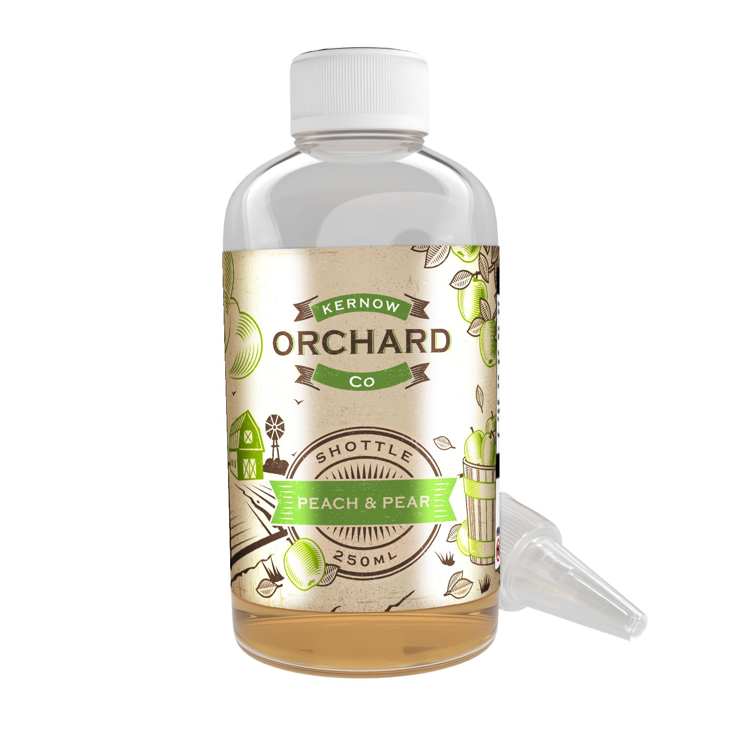 Orchard - Peach & Pear Shottle Flavour Shot by Kernow - 250ml