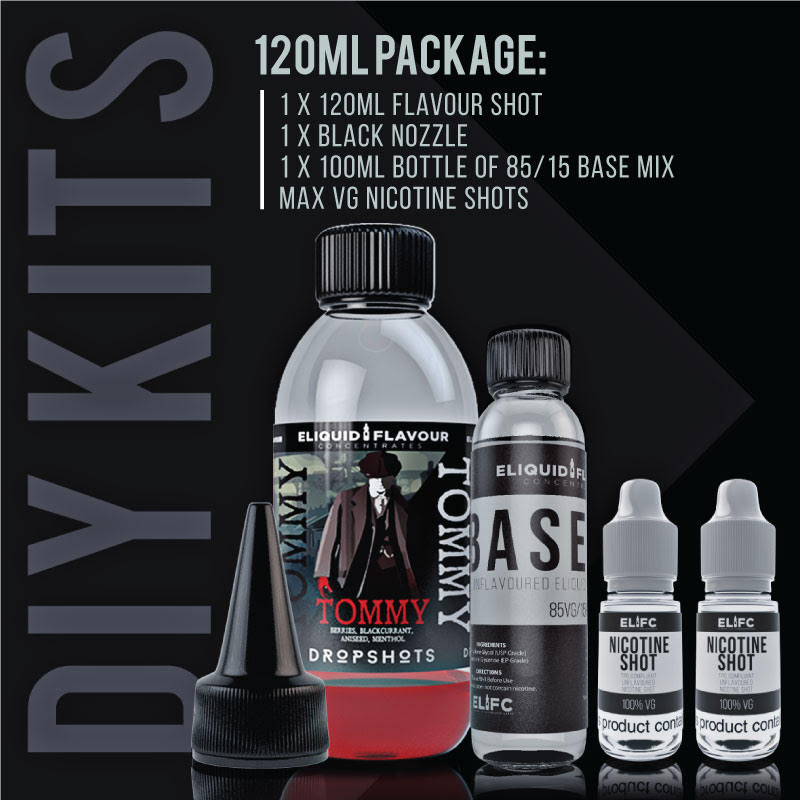 DropShot DIY E Liquid Kit - 120ml