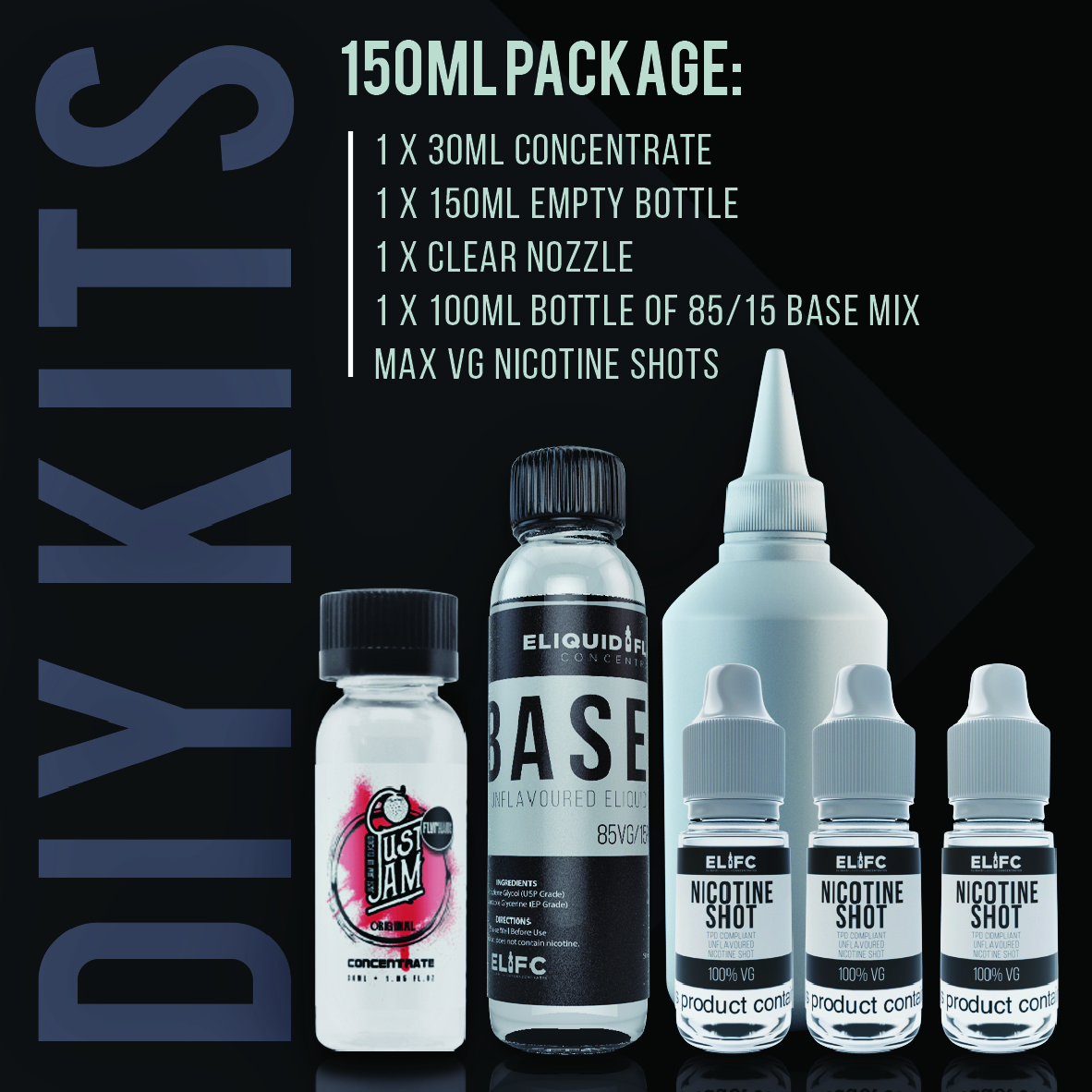 Just Jam DIY E Liquid Kit - 150ml
