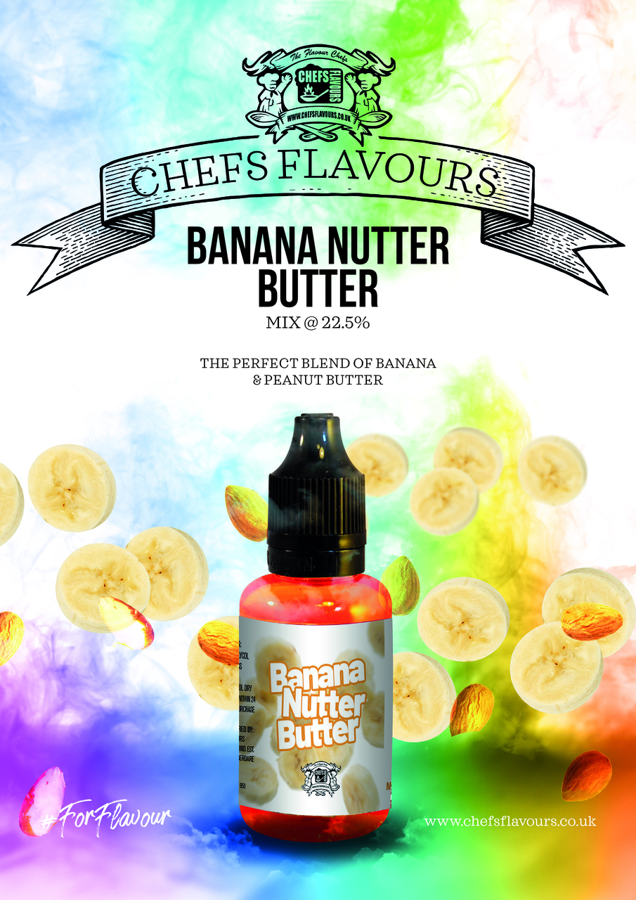 Banana Nutter Butter Flavour Concentrate by Chefs Flavours