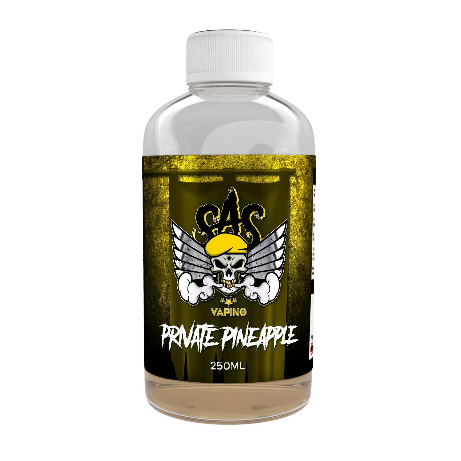 Private Pineapple Flavour Shot by SAS Vaping - 250ml