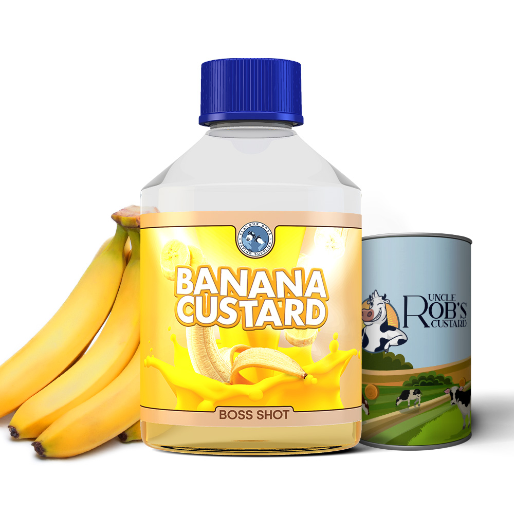 Banana Custard Boss Shot by Flavour Boss - 250ml