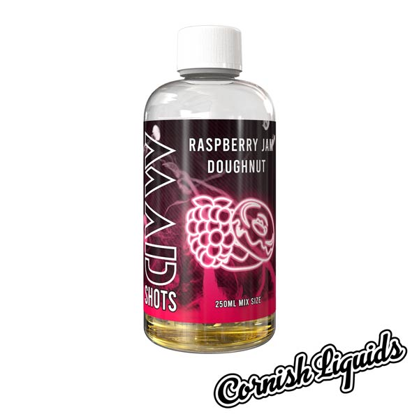 Raspberry Jam Doughnut Mad Shot by Cornish Liquids - 250ml